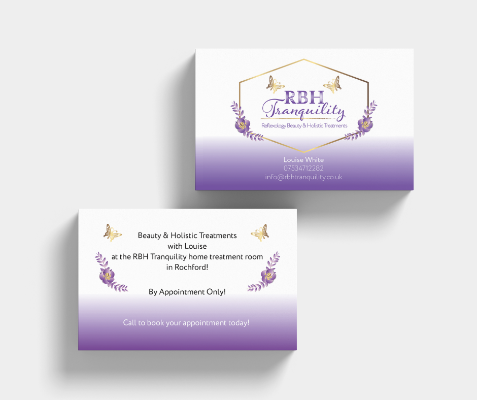 RBH Tranquility business cards