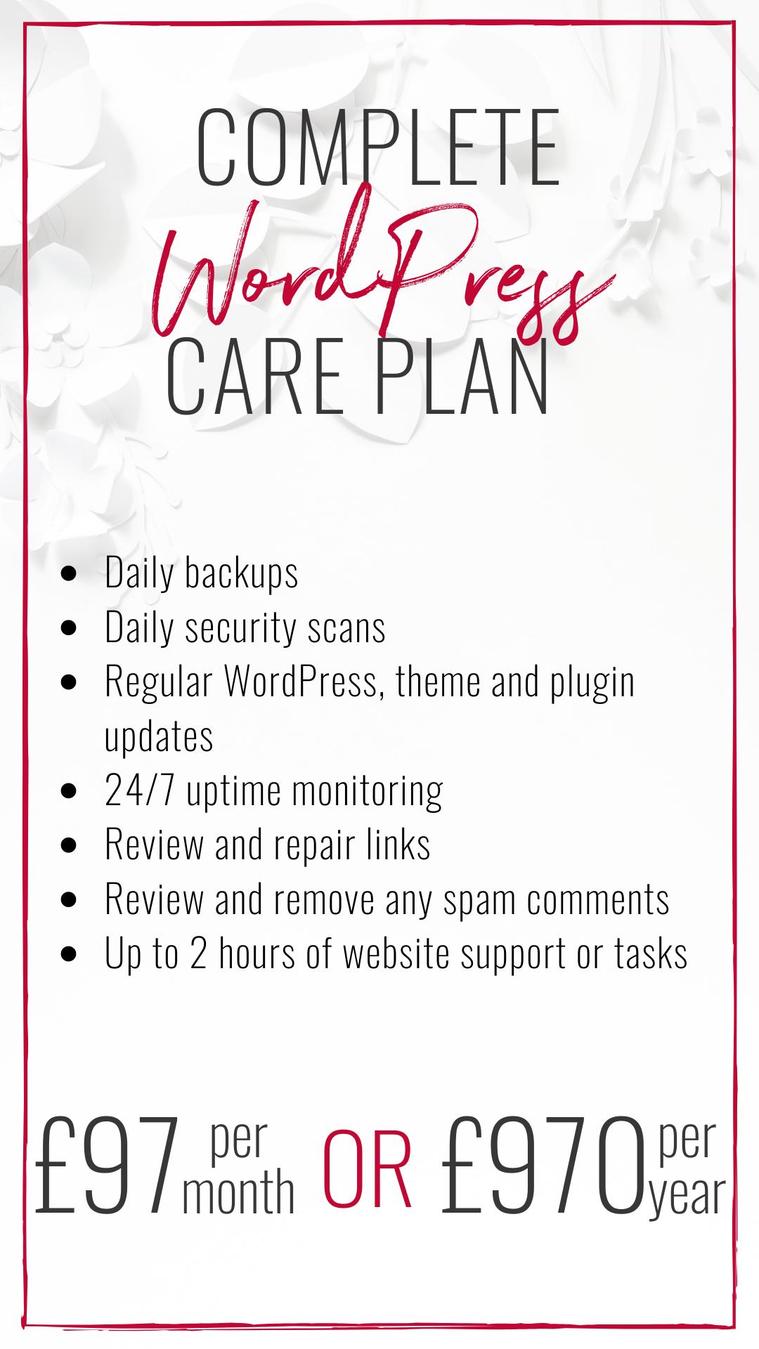 WordPress Website Complete Care Package